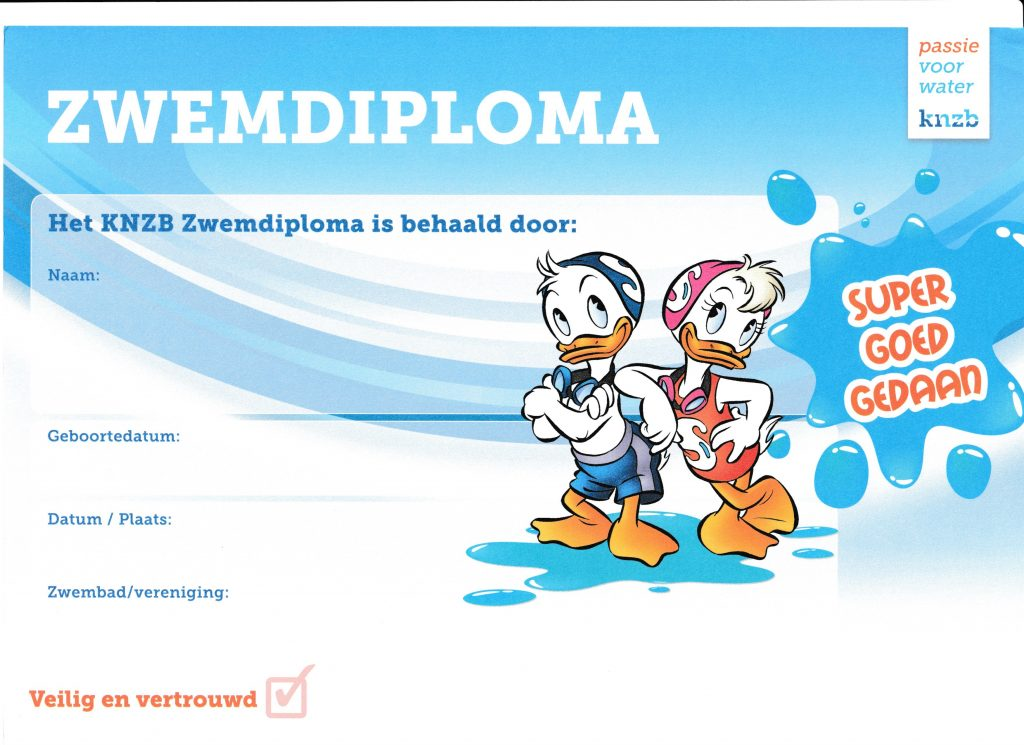Zwemdiploma SupperSpetters